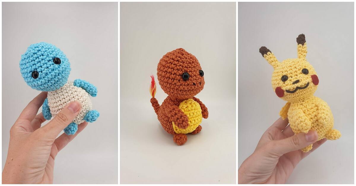 Learn how to make Crochet Pokemon Amigurumi Patterns that makes fantastic gifts or home decor.