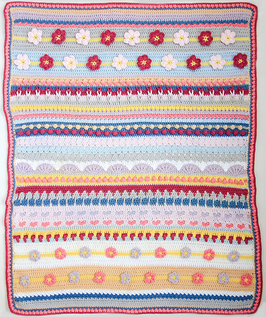 Here is the Spring and Autumn Free Crochet Rhapsody Blanket Patterns.