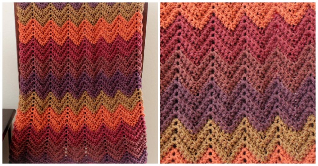 Today we are going to learn How to Crochet Fall Blanket Afghan. This is a pattern for a beginner level crochet with Caron Big Cakes yarn...