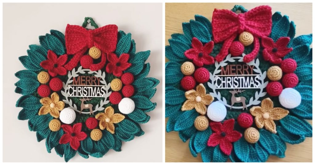 Today we are going to learn How to Crochet Christmas Wreath. Crochet Wreathare particularly popular for Christmas and are increasingly popular as general fall decor.